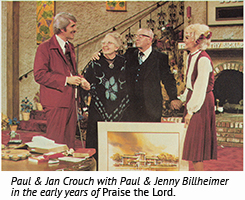 Paul & Jan Crouch with Paul & Jenny Billheimer in the early years of Praise the Lord.