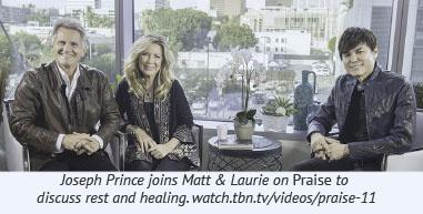 Joseph Prince joins Matt & Laurie on Praise to  discuss rest and healing. watch.tbn.tv/videos/praise-11