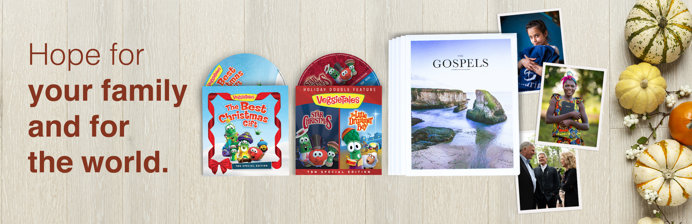 Hope for your family and for the world - VeggieTales The Best Christmas Gift